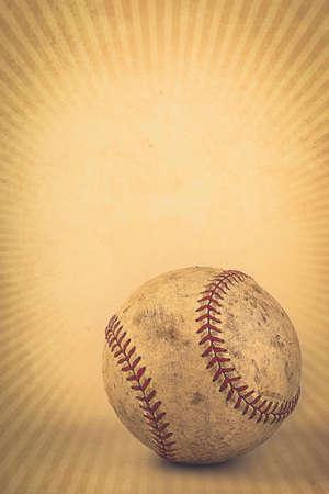 Vintage bruine achtergrond met Baseball en kopie ruimte Stockfoto