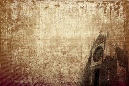 Christian churches vintage background with copy space photo