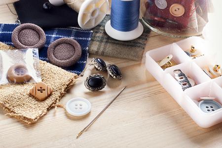 n�hzeug: N�hzeug Sachen - Tasten bunten Stoffen und N�hnadeln