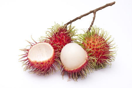 Fresh rambutan fruit isolate on white background  photo