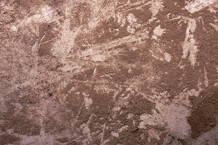 grimy: Thick brown dust on the metal surface. Stock Photo