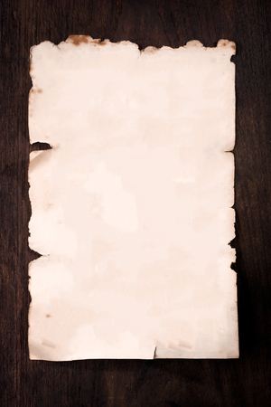 Blank Of Antique Pape on wooden  background