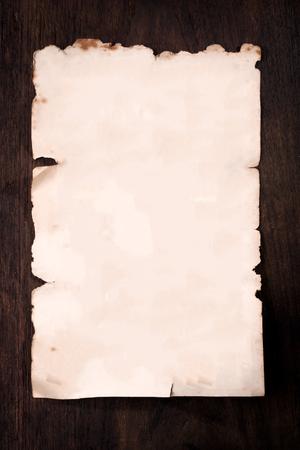 Blank Van Antieke Pape op houten achtergrond