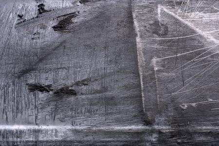Achtergrond en textuur van plaatwerk wordt gekrast. Stockfoto