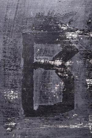 Zwarte grunge alfabet plakband effect.Letter B