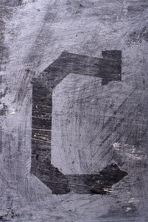 Black grunge alphabet sticky tape effect.Letter C