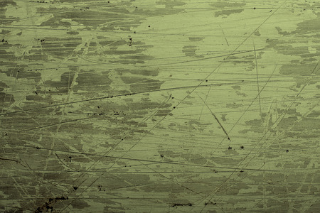 scratches: Green coated steel grunge background with scratches Stock Photo