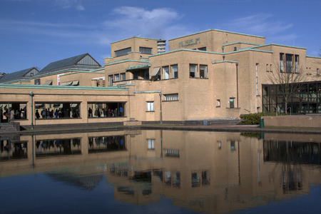 renowned: The Hague, Netherlands,february-18-2015 The Municipal Museum is an art museum. the museum was designed by the Dutch architect H.P. Berlage. It is renowned for its large Mondrian collection, the largest in the world