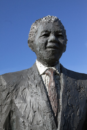 national congress: The Hague,The Netherlands-february 20,2015: Statue of Nelson Mandela at the Eisenhower street in The Hague. Nelson Mandela was a President of south Africa and a freedom fighter for the ANC, African National Congress Editorial