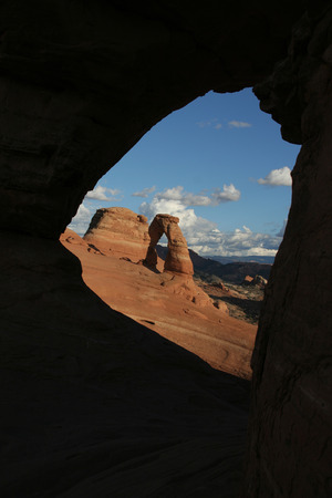 recuperate: Moab, USA-october 6- 2008: Arches National Park is a small national park near Moab in the east of the US state of Utah