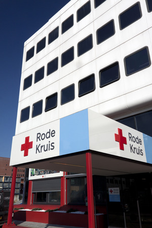 neutrality: The Hague, Netherlands-February 15.2015: The Red Cross is a global humanitarian organization