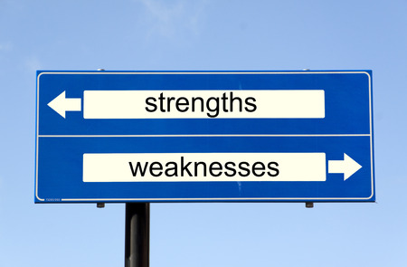 weaknesses: rijswijk,The Netherlands-march 10,2015: swot analysis strenghts and weaknesses