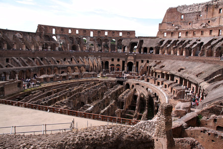 1st century: Rome,Italy-september 10,2014:The Flavian Amphitheatre (Latin: Amphitheatrum Flavium), better known as the Colosseum, built in the 1st century AD. Rome was the largest amphitheater in the Roman Empire. Editorial