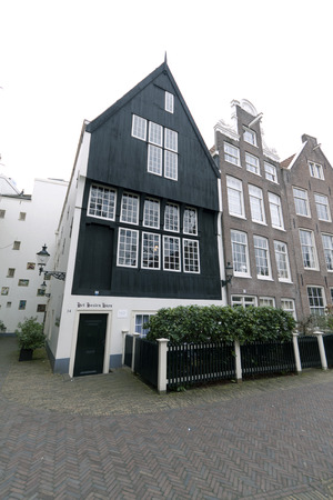 noord: Amsterdam,The Netherlands-march 23,2015: Wooden house in the begijnhof in Amsterdam Editorial