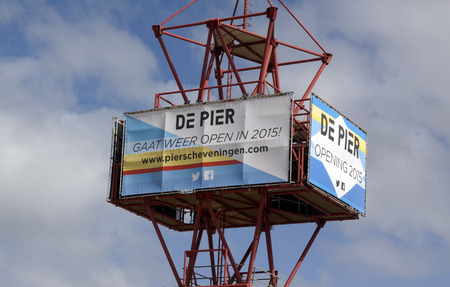 scheveningen: Scheveningen,The Netherlands-march 31 , 2015: announcement of the reopening of the pier in Scheveningen Holland