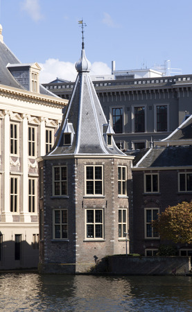 recuperate: The Hague,The Netherlands-april 30,2015: The Tower is part of the Binnenhof in The Hague. The Turret is since 1982 the office of the Prime Minister of the Netherlands.