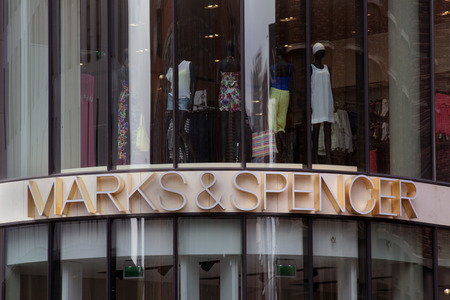 spencer: The Haguenetherlandsmay 27 2015: Marks Spencer MS is originally a British chain of department stores this store is located in the center of the hague holland Editorial