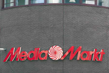 retail chain: The Haguenetherlandsmay 27 2015: Media Markt is a German retail chain That Specializes in consumer electronics.