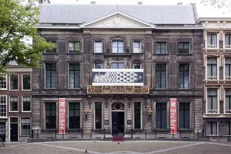 oversight: The Hague Netherlands June 3 2015: The Escher Museum at the long fore in The Hague