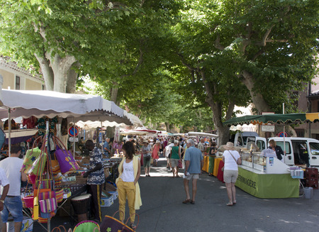 bedoin: arles,france-june 29, 2015:local market in Arles france