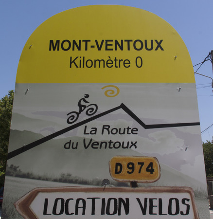 bedoin: bedoin,france-june 30, 2015: start point for the mont ventoux in bedoin Editorial