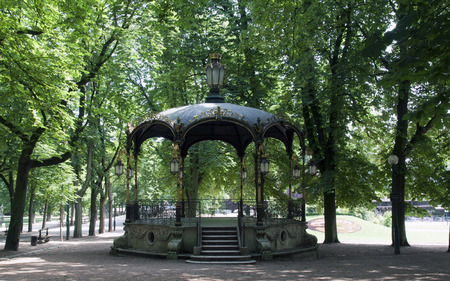 bandstand: nancy,france-june 12, 2015: public park in nancy with a bandstand Editorial