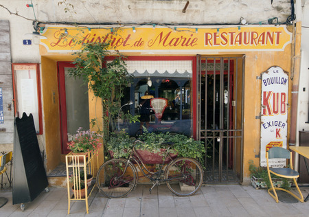 paris,france-june 26, 2015: french bistro restaurant in Paris france