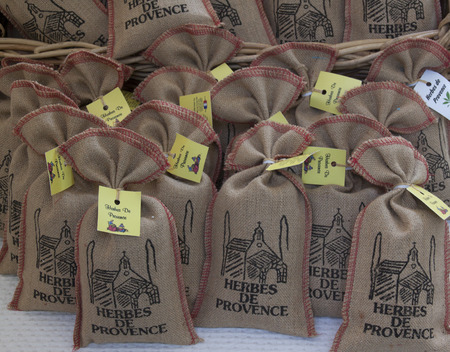 bedoin: bedoin,france-june 27, 2015: little bags with herbs de provence
