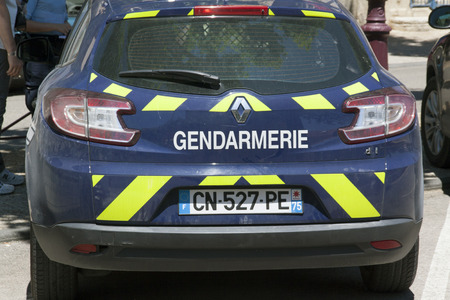 nationale: Paris,france-june 28, 2015: car of the Gendarmerie Nationale is a semi-military police force in France Editorial