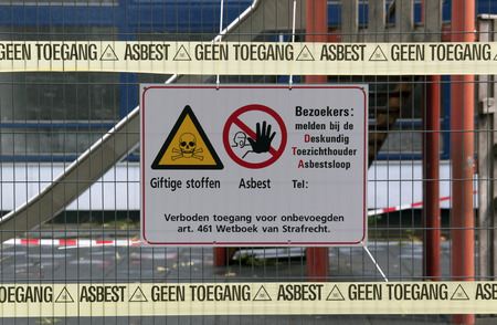 no access: Amsterdam,Netherlands-july 26, 2015: no access associated with pollution by asbestos Editorial