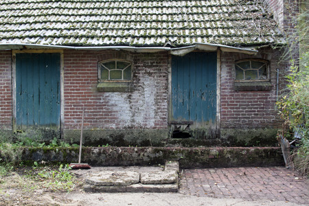 dilapidated: dilapidated farm in the forest