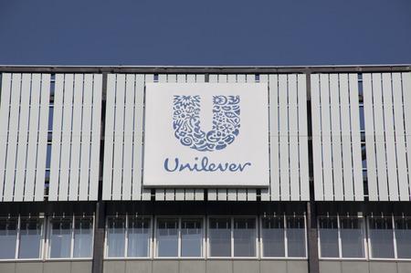 Rotterdam, Paesi Bassi-13 agosto 2015: Unilever è una multinazionale nel settore dei prodotti alimentari, cura personale e prodotti per la pulizia. Editoriali