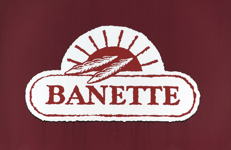boulangerie: paris , France-september 15, 2015: sign of bannette, bannette is a chain of French bakeries, this one is located in Arles France