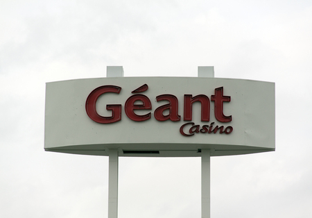 answered: paris , France-september 15, 2015: geant casino sign, hypermarche in Paris France Editorial