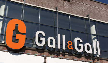 gall: Amsterdam, Netherlands-October 2, 2015: facade or gall Gall liquer store in Amsterdam
