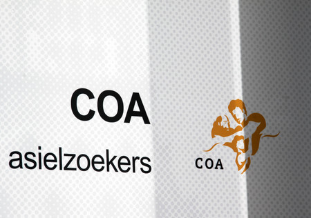 seekers: The Hague, Netherlands-October 8, 2015: The Central Agency for the Reception of Asylum Seekers COA biedt On Behalf of the Ministry of Security and Justice shelter to asylum seekers coming to the Netherlands