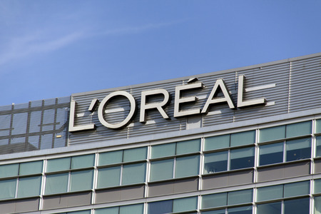 Amsterdam, Netherlands-october 11, 2015: dutch office of l oreal, The L Oreal Group is a French company active in the cosmetics and beauty Stock Photo - 47386911