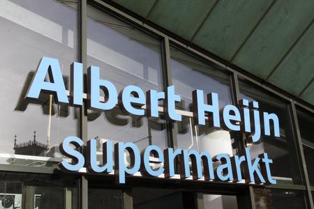 Amsterdam, Paesi Bassi-25 Ottobre 2015: Albert Heijn in piazza museo di Amsterdam