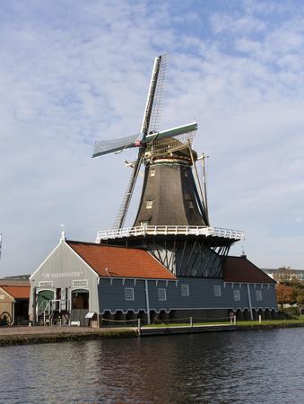 leidschendam: leidschendam, Netherlands-october 27, 2015: Salamander has a sawmill in Leidschendam build in 1777 Editorial