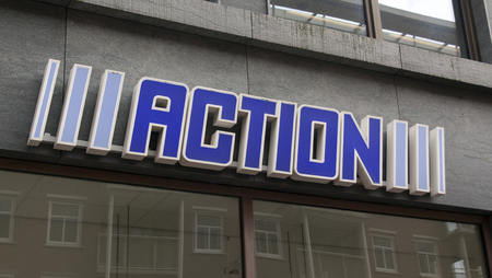 retail chain: The Hague,netherlands-october 24, 2015:  Action is a Dutch retail chain with more than five hundred branches in the Netherlands, Belgium, Germany and France. Editorial