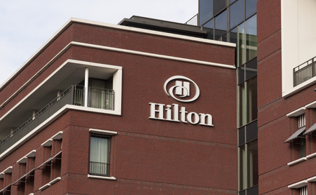 hotel chain: The Hague, Netherlands-November 24, 2015: Hilton Hotels Resorts, formerly Hilton Hotels, an international hotel and resort chain this hotel islocated in the hague Editorial