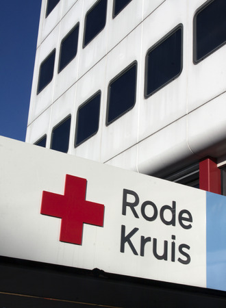 impartiality: The Hague, Netherlands-december 8-2015: The Red Cross is a global humanitarian organization Editorial
