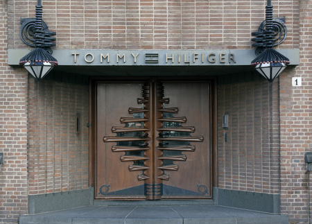 tommy: Amsterdam, Netherlands-december 13, 2015: The Tommy Hilfiger Corporation is a manufacturer of clothing. It produces and sells sporting mens and wome clothing. this office in in Amsterdam