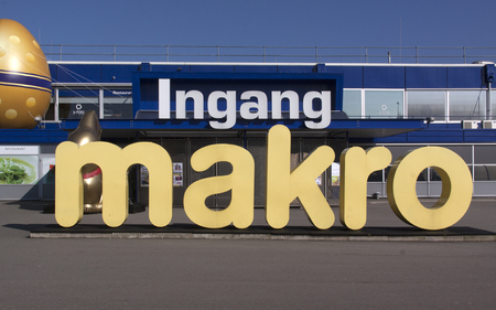 makro: Amsterdam, Netherlands-march 13, 2016: Makro is a cash and carry wholesale (set up a wholesale business as a grocery store).