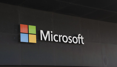 microsoft: Amsterdam, Netherlands-may 5, 2016:  Microsoft Corporation, an American company. Microsoft develops computer-related products