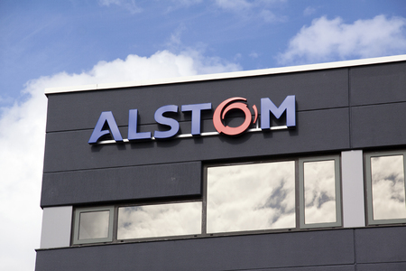 acquisitions: Amsterdam, Netherlands-august 8, 2016: facade of alstom, Alstom is a multinational company which is mainly active in the field of energy and transport
