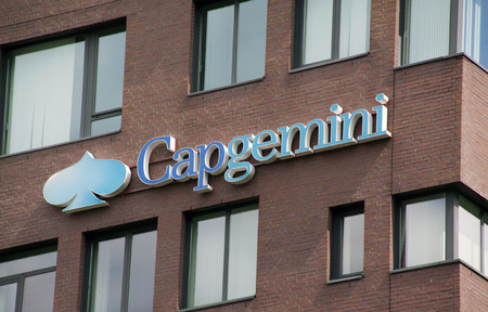 consultancy: Amsterdam, Netherlands-august 14, 2016: Capgemini is a French consulting firm, which has been working in the ICT and consultancy.