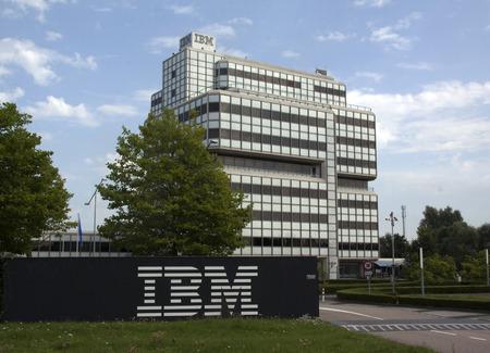 Amsterdam, Nederland-26 augustus 2016: IBM-gebouw in Amsterdam