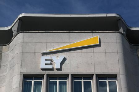 Amsterdam, Netherlands-september 18, 2016:facade of the ey, ernst en  young building in Amsterdam