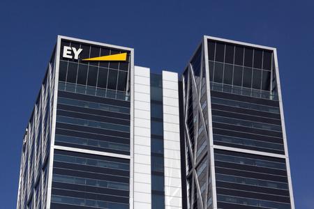 Amsterdam, Nederland-22 oktober 2016: Ey, Ernst & Young gebouw in Amsterdam Redactioneel